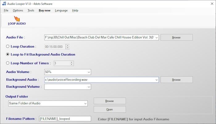 Audio Looper full screenshot
