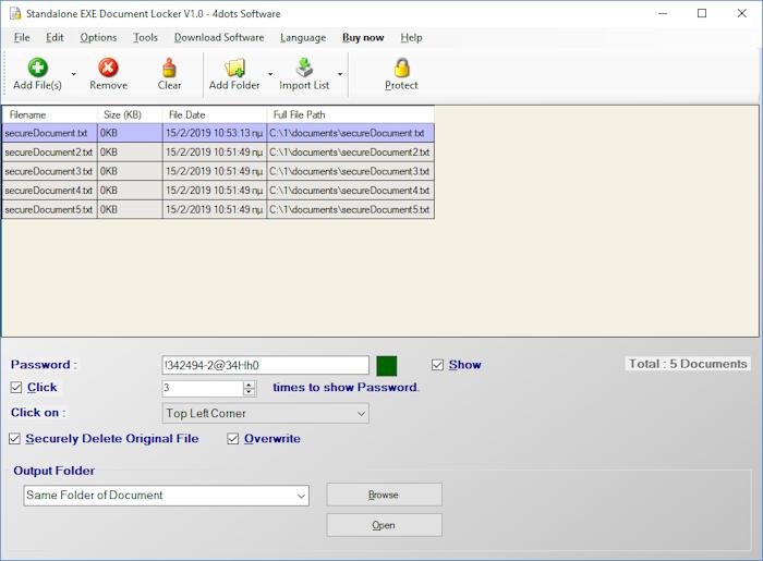 Standalone EXE Document Locker 1.0