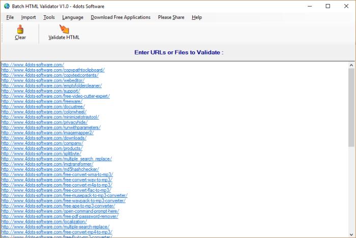 Batch HTML Validator - 禁用模式