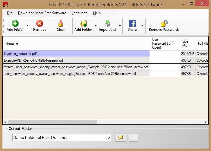 Pdf Password Remover Ware