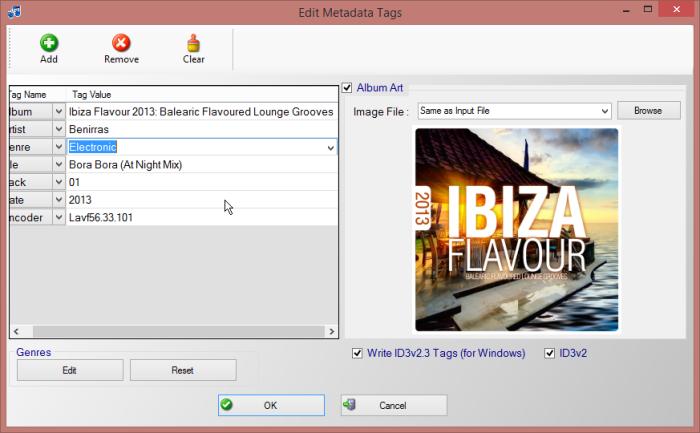 Metadata Album Art Set Simple Mp3 Cutter Joiner Editor