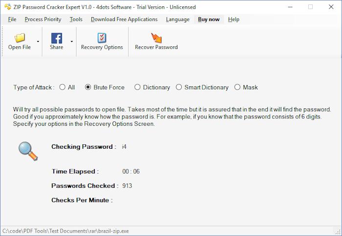 crack zip password online